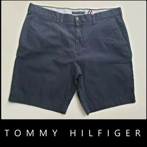 Tommy Hilfiger Men's Flat Front Chino Short Blue